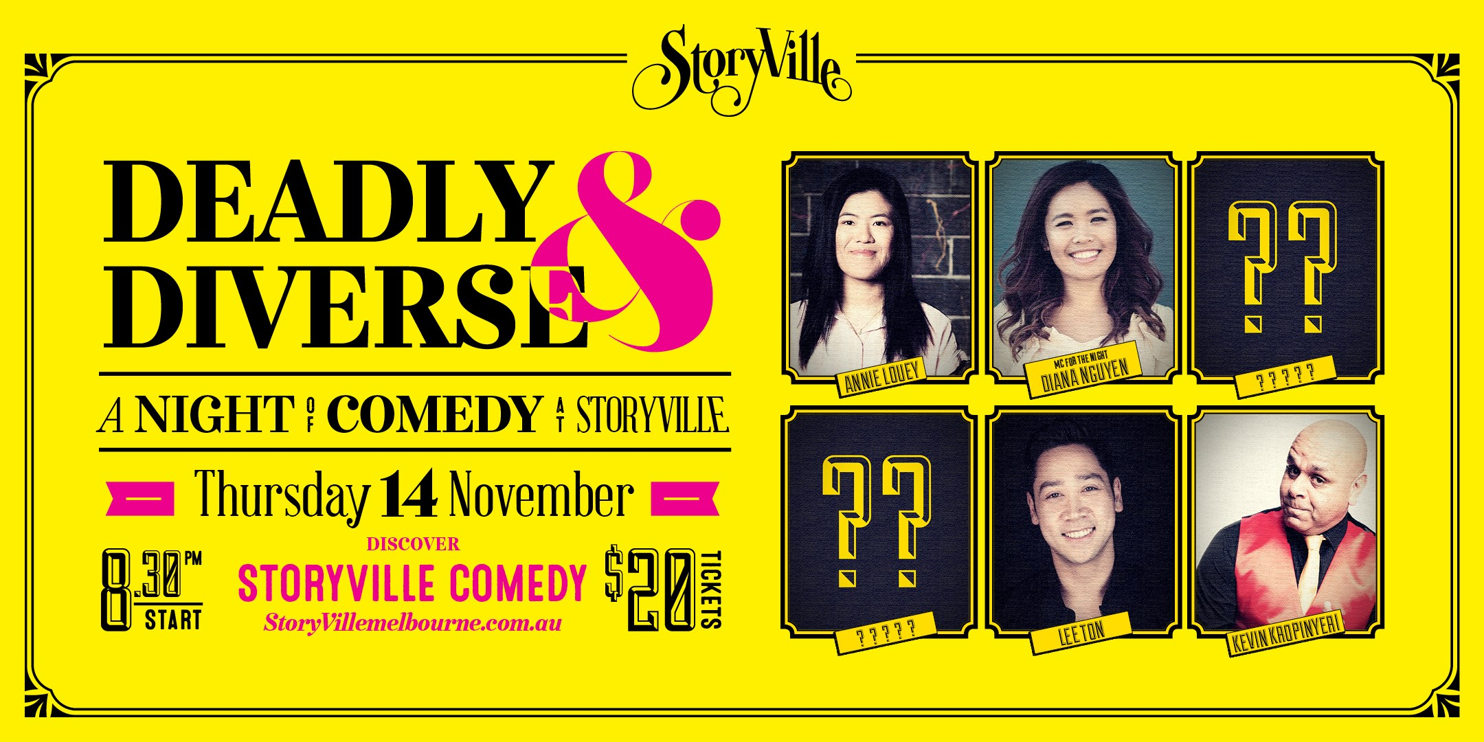 Deadly and Diverse Comedy Night.